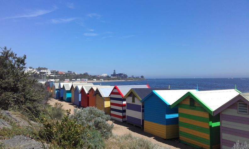 Petites cabanes de plage